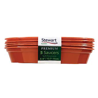 Stewart Premium Flower Pot Saucers (Pack Of 5)