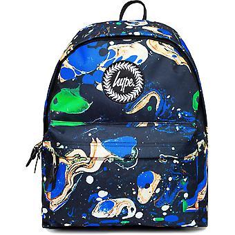 Hype Blue Marble Backpack Bag Marina 78