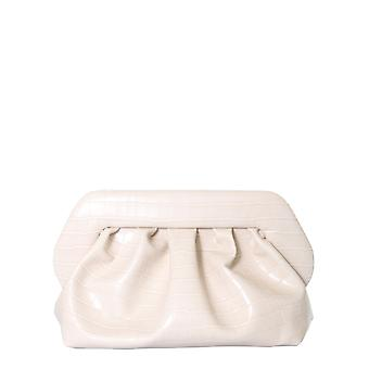 Themoirè Tmf20br7 Women's White Polyurethane Clutch