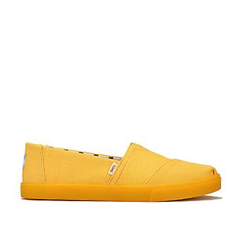 Women's Toms Classics Heritage Canvas Cupsole Pumps in Yellow