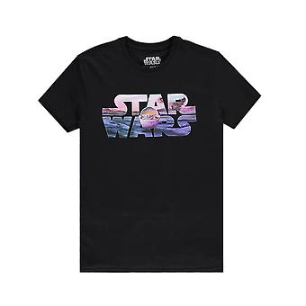 Men's Star Wars The Mandalorian The Child Logo T-Shirt