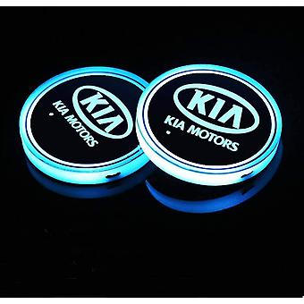 2X KIA Led bottom plate for cup holder