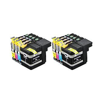 RudyTwos 2x Replacement for Brother LC127XL Set Ink Unit Black Cyan Magenta & Yellow Compatible with DCP-J132W, DCP-J152W, DCP-J172W, DCP-J552DW, DCP-J752DW, DCP-J4110DW, MFC-J245, MFC-J470DW, MFC-J65