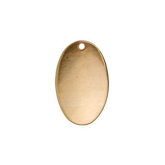 Kupfer Blanks Domed Oval Pack von 10 26mm X 16mm X 0,9 mm