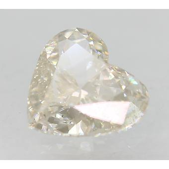 Certificado 0.53 carat G Color VVS2 Corazón Mejorado Diamante Natural 6.04x5.61mm 2VG
