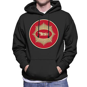 BSA Motorcycle Red Logo Men's Hooded Sweatshirt