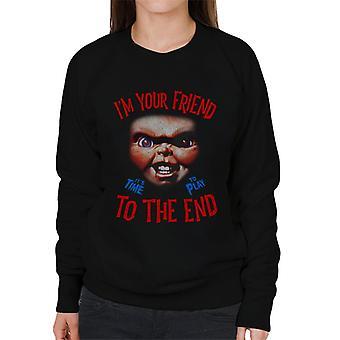 Chucky im din vän till slutet kvinnor ' s tröja