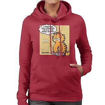 Garfield klassisk 80s trening sitat kvinner ' s Hettegenser