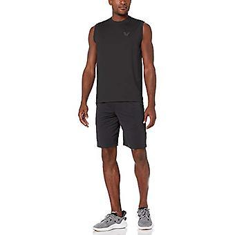 Brand -Peak Velocity Men's Tech-Stretch Sleeveless Quick-Dry Loose-Fit T-Shirt, Black, 2X-Large