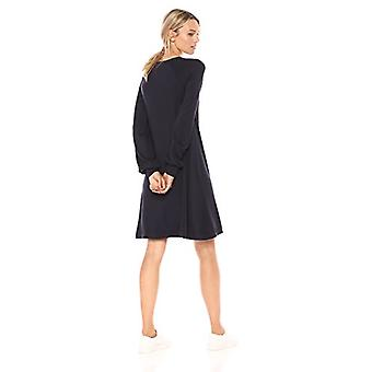 Marka - Daily Ritual Women&s Supersoft Terry Relaxed Sweatshirt Dress, granatowa, średnia