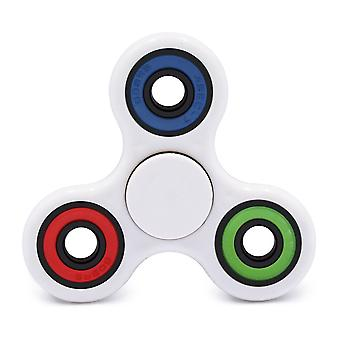 High Performance Spin-R Fidget Play Stress-Relief Tri-Spinner, White #11669W