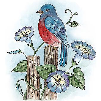 Scrapping Cottage Bluebird and Morning Glories