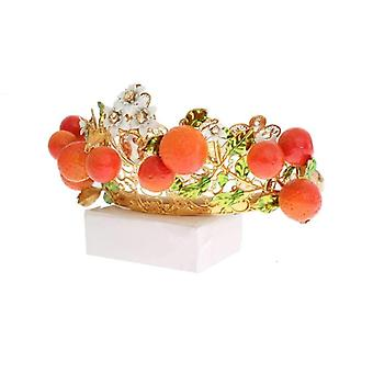 Dolce & Gabbana Monivärinen Messinki Crystal Sisilia Orange Tiara -- NOC1527045