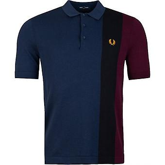 Fred Perry Authentics Side Panel Knitted Polo Shirt