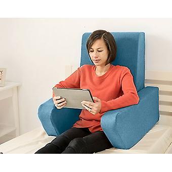 Mudando sofás Una Soft Wool Effect Leitura De Amortete o Trabalho De Volta Descanso - Marine