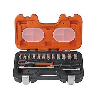 Bahco S160 Sockel Set von 16 Metrische & AF 1/4in Laufwerk BAHS160