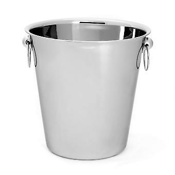 Șampanie / Vin / Ice Chiller Bucket - Inox - 4 Litri