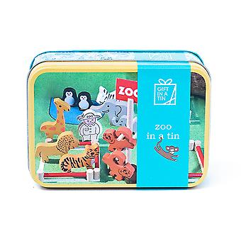 Zoo In A Tin - Children's Play Set - Luxury Gift Item