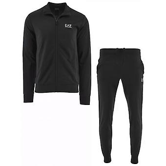 EA7 Black Polyester Tracksuit