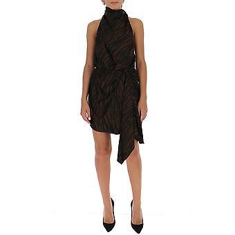 Attico 202wca03p030048 Women's Black Viscose Dress