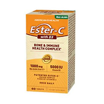 American Health Ester-C With D3, 5000 IU, 60 Tabs