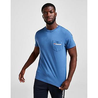 New Napapijri Men's Pocket Short Sleeve T-Shirt Blue