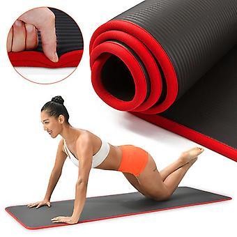 10mm Yoga Mat- Ekstra tyk 1830 * 610mm Nrb Skridsikker Pude Mat / Kvinder Fitness