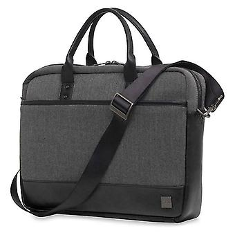 Knomo Princeton Briefcase for 15.6-Inch Laptop - Grey - 43-201-BKG