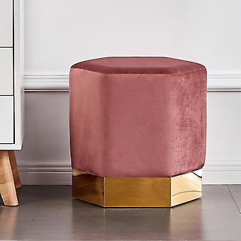 Lucci Lux Pouffe Pink