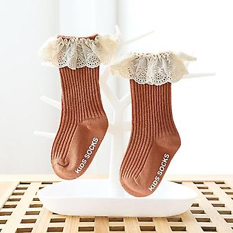 Baby Cotton Lace Princess Socks- Toamna / Primăvară Genunchi High Șosete lungi