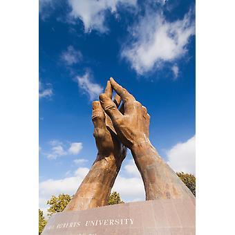 Миров крупнейших молиться руки скульптуры на устные Робертс университета Tulsa Оклахома США Плакат Печать