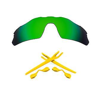 Kit di lenti di sostituzione polarizzate per Oakley Radar EV Pitch Green Mirror Yellow Anti-Scratch Anti-Scratch anti-Scratchre UV400 SeekOptics