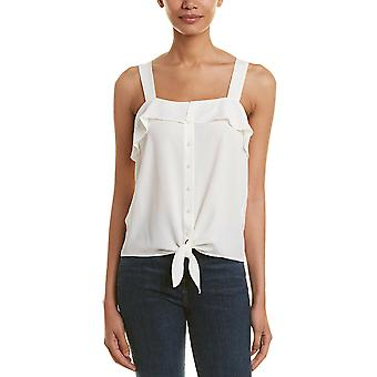 1.State | Ruffled Button-Front Sleeveless Top