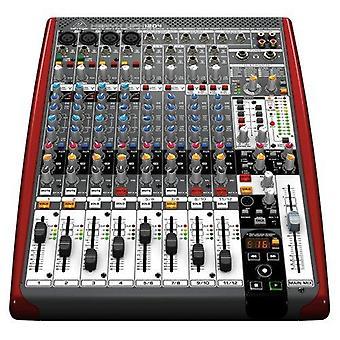Behringer ufx1204 premium 12-input 4-bus mixer with 16x4 firewire interface 16-track usb recorder black