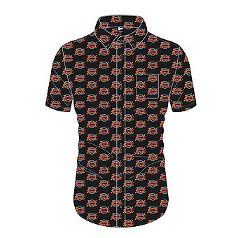 David Bowie Shirt Logo repeat Pattern new Official Mens Black Casual