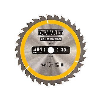 DEWALT Construction Circular Saw Blade 184 x 16mm x 30T DEWDT1940QZ