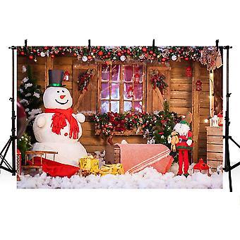 Mehofoto fantastisk god jul fest banner ferie vinter foto studio bakteppe snø mann christm