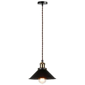 Průmyslové závěsné světlo, edisonové osvětlení, vintage světlo, kovová ruční lampa,