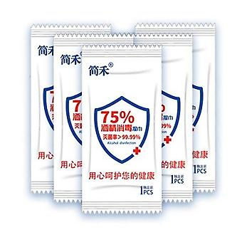 1 Lot(100pcs) Disposable 75% Alcohol Wipes