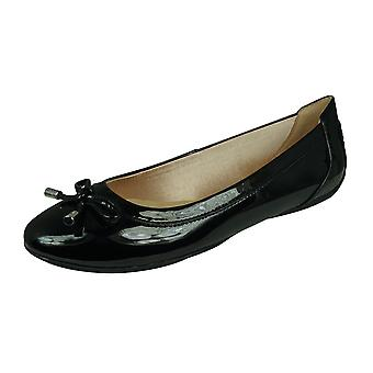 Geox D Charlene B Womens Ballet Pumps Synthetic Patent - Black