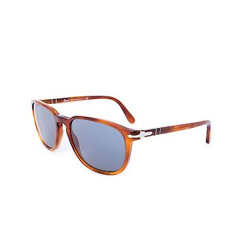 Persol Crystal Blue Square Frame Light Brown Sunglasses