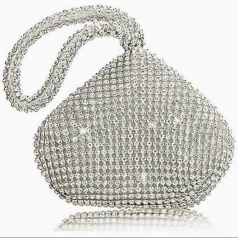 Weiche Perlen, Reißverschluss Hochzeit, Brautjungfer Handtaschen, Geldbörse mit Diamanten Kupplung