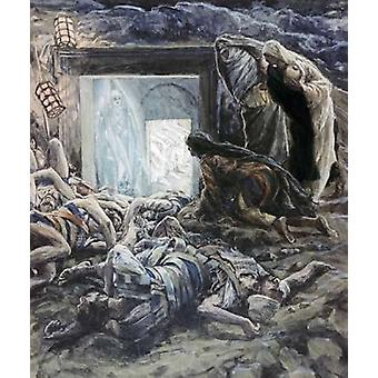 Maria Madalena e as mulheres Santos o túmulo Poster Print by James Jacques Tissot