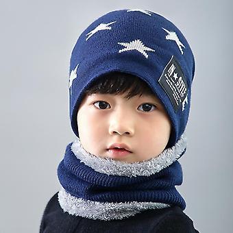 الأطفال & apos;ق قبعة الصوف الشتوي, غطاء الرقبة, سميكة محبوك دافئ & ق قبعة, وشاح مجموعة