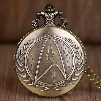 Retro Star Wars Hollow Quartz Pocket Watch