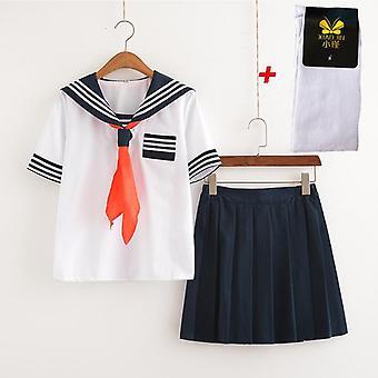 Japonský Anime Shoujo Cosplay Kostým Peklo Studentská škola Uniforma Oblek