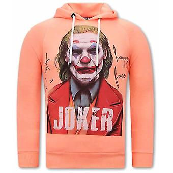 Joker Print Hoodies - Orange