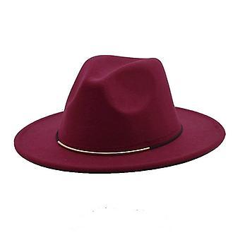 Fedoras Jarná vlna klobúky a muži Jazz čiapky, Široký okraj Gentleman Elegantné