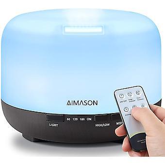 Essential Oil Diffuser 500ML, AIMASON Remote Control Aroma Air Freshener
