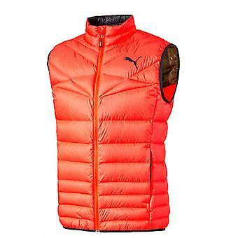 Puma Active 600 PackLITE Fluro Orange Zip Up Mens Warm Vest Gilet 838645 10 Z41A